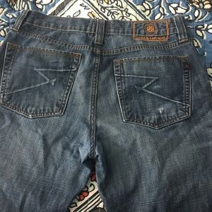 Rock and Republic Unisex Jeans 34X34. Button fly